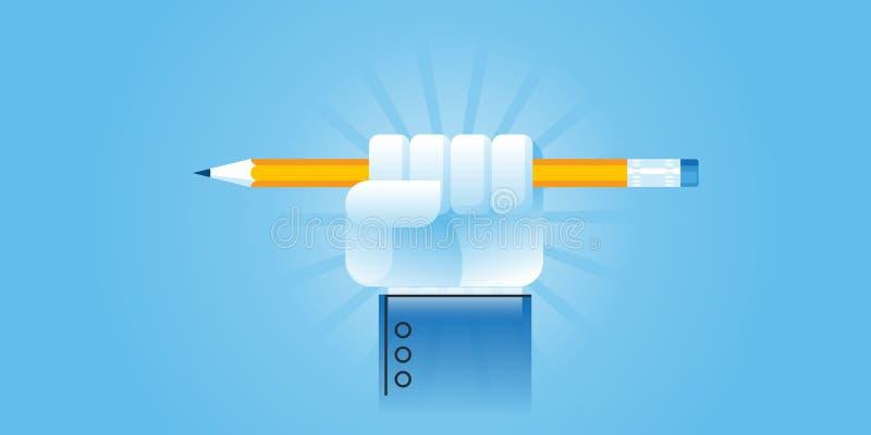 Mieszkanie linii projekta strony internetowej sztandar dla władzy edukacja ilustracja wektor