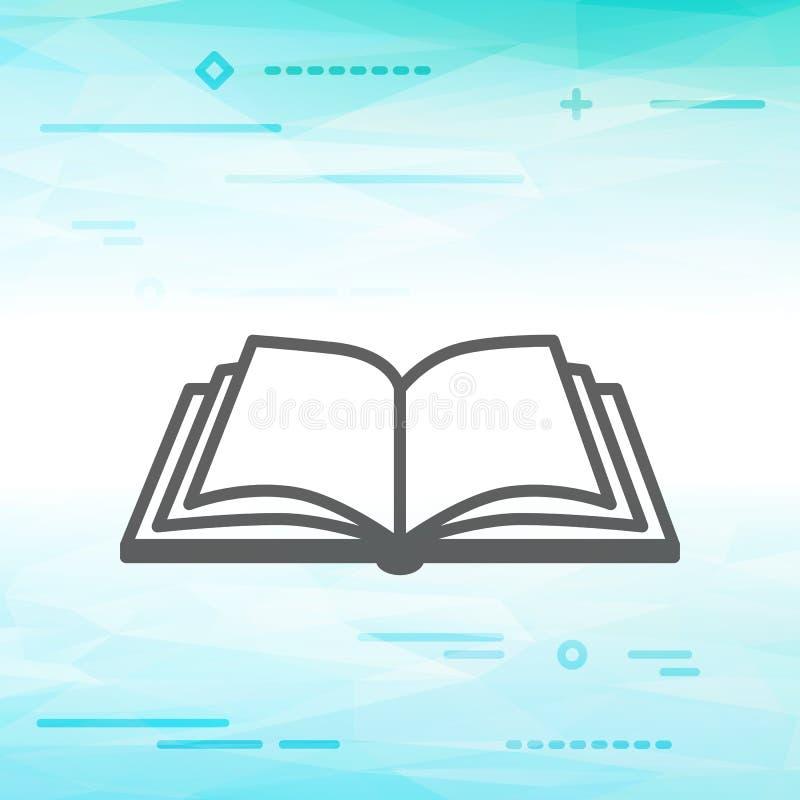 Mieszkanie linii projekta wizerunku graficzny pojęcie otwarta książkowa ikona ilustracji