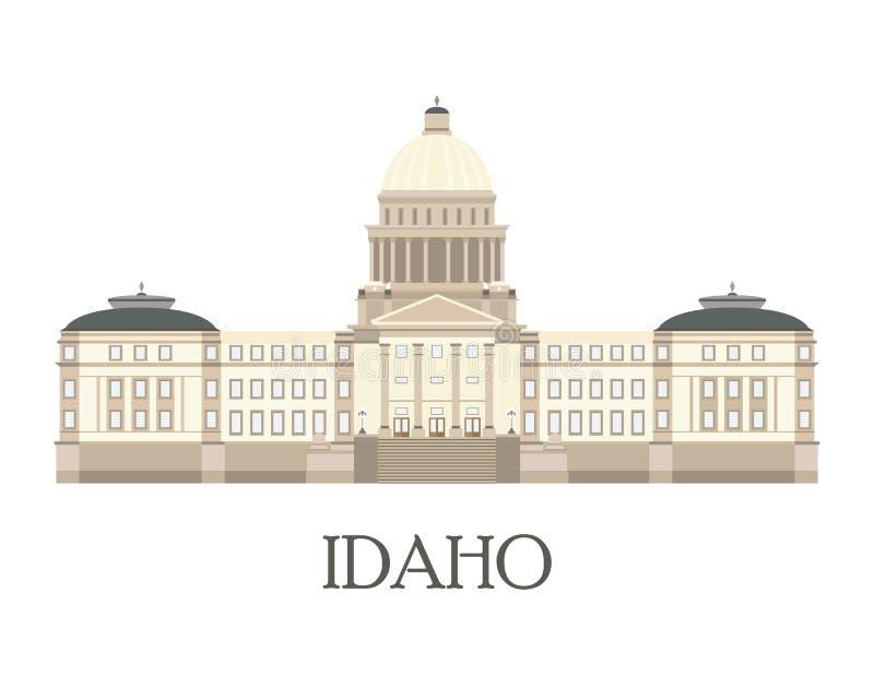 Mieszkanie odizolowywał ilustrację Idaho stanu Capitol royalty ilustracja