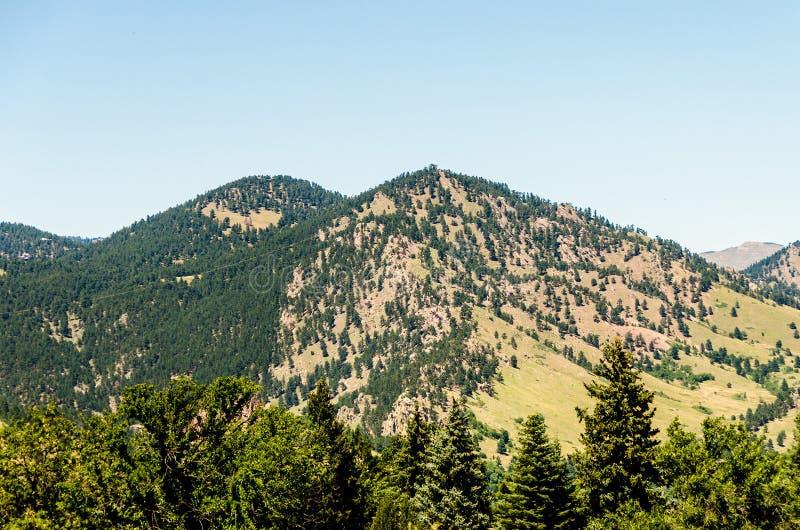 Mieszkanie Odprasowywa rockowej formaci głaz Kolorado obrazy stock