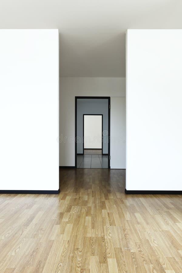 mieszkanie pokój pusty nowy fotografia stock