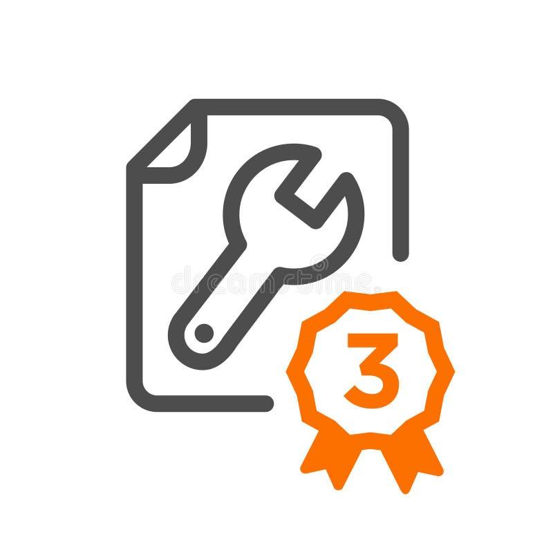 Mieszkanie projekta pojęcia kreskowej ikony bezpłatna naprawa, poparcie, dostawa proces, online rozkaz procedura, strona internet ilustracja wektor