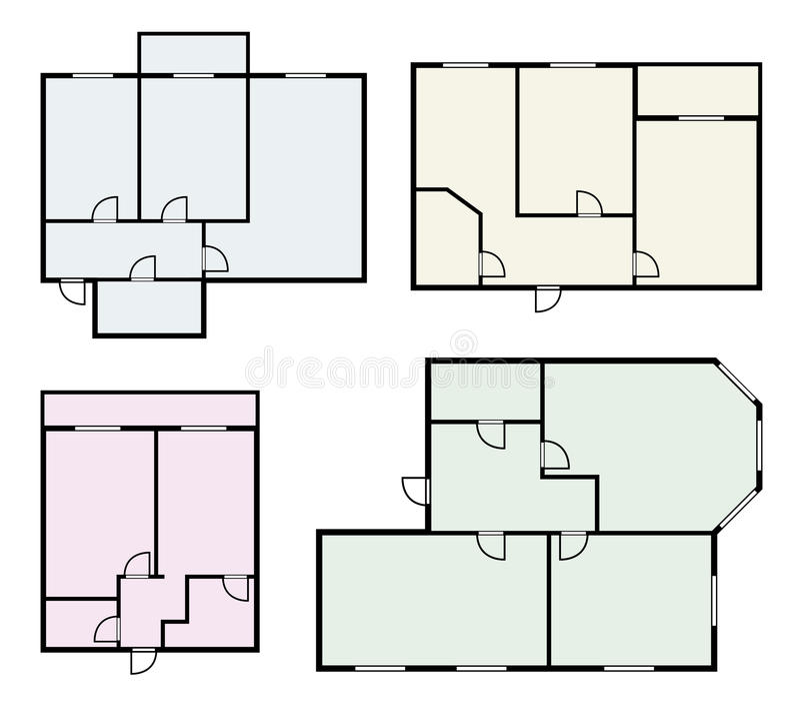 Mieszkanie projektuje wektoru set royalty ilustracja