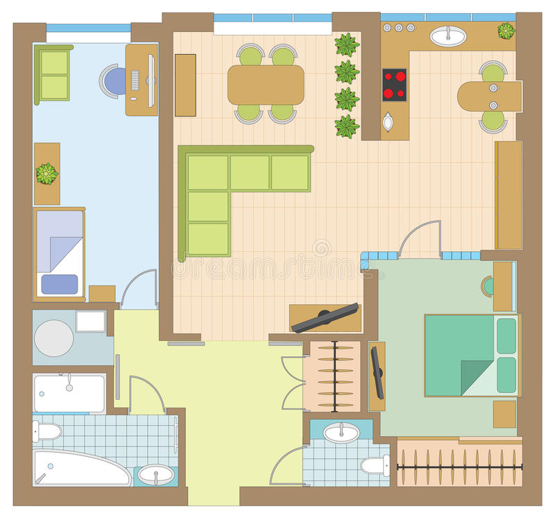 Mieszkanie rysunek ilustracja wektor