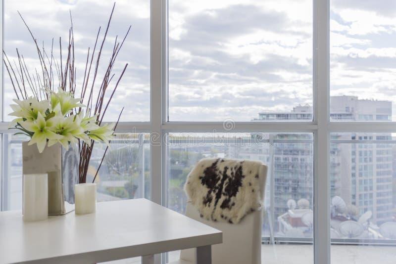Mieszkanie własnościowe Wewnętrzny projekt zdjęcie stock