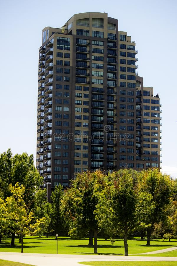 Mieszkanie wzrost w parku zdjęcia royalty free