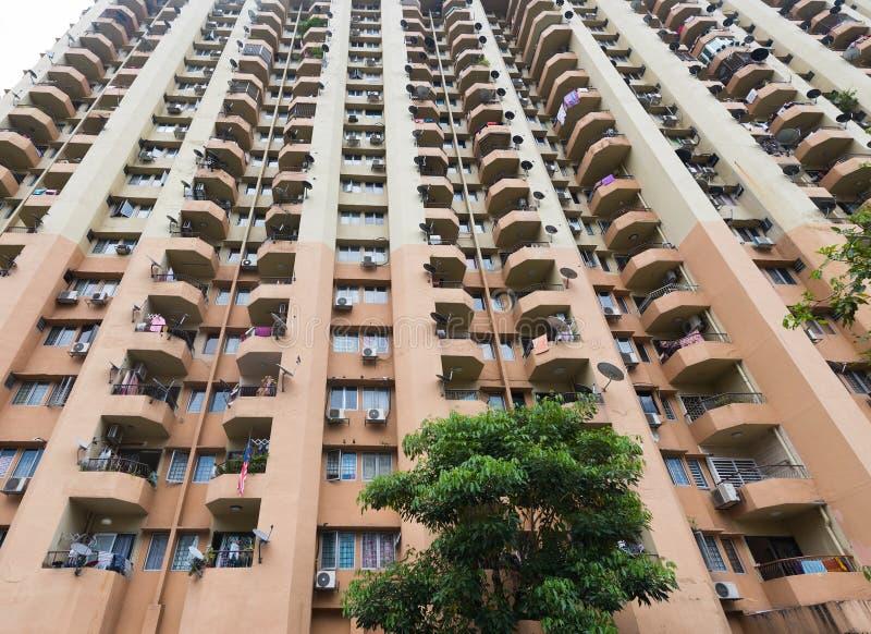 Mieszkanie wzrosta wysoki budynek fotografia stock