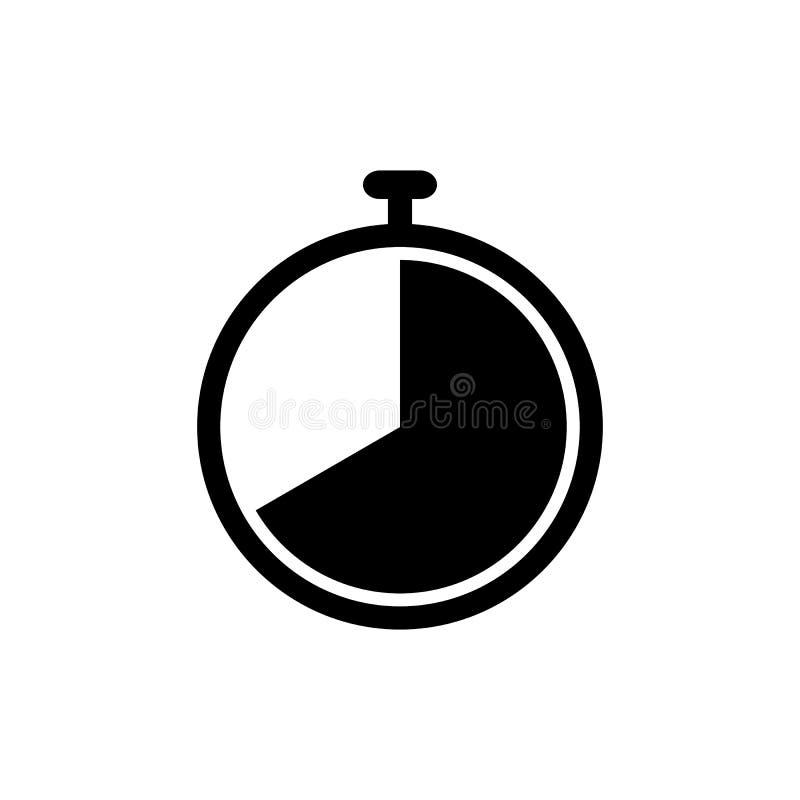 Mieszkanie zegarowa wektorowa ikona dla graficznego projekta, logo, strona internetowa, ogólnospołeczni środki, wisząca ozdoba ap royalty ilustracja