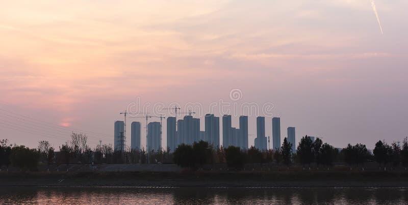 Mieszkaniowe ćwiartki w Nanjing obrazy royalty free