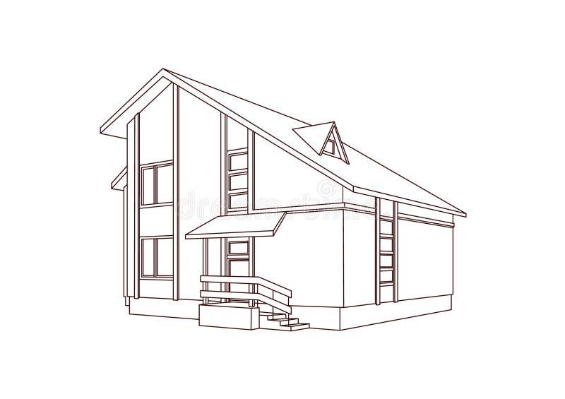 mieszkaniowy dom ilustracja wektor
