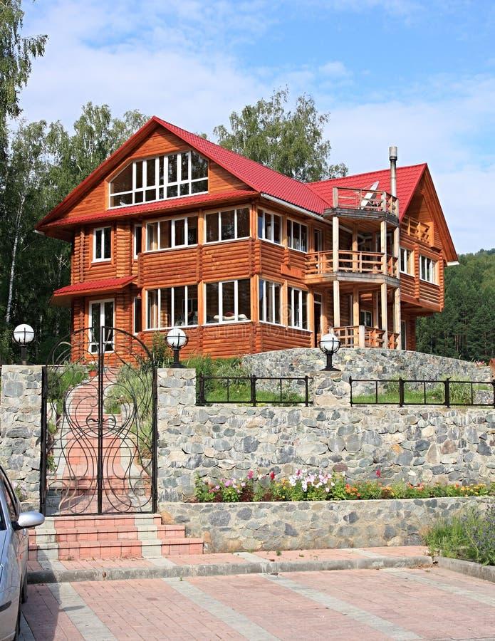 mieszkaniowy domowy drewniany obrazy royalty free