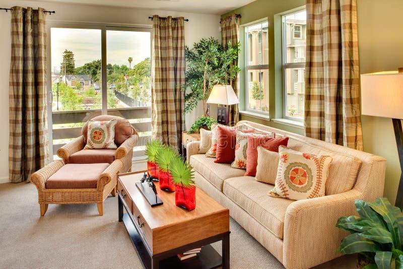Mieszkaniowy Domowy Żywy pokój obraz royalty free