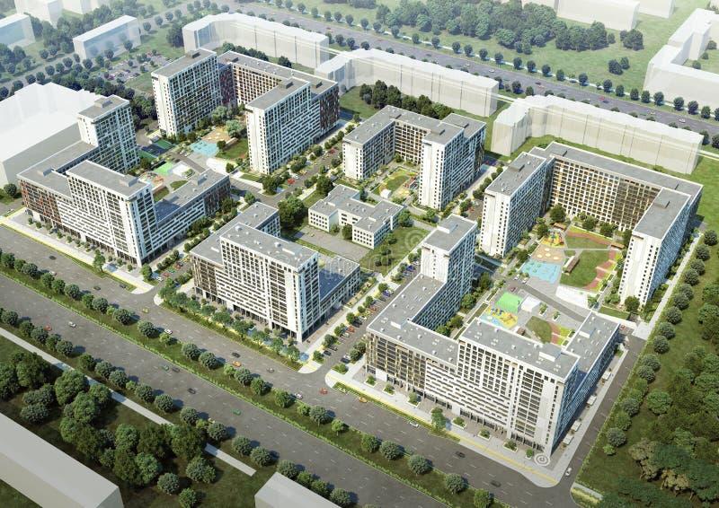 Mieszkaniowy kompleks ilustracji