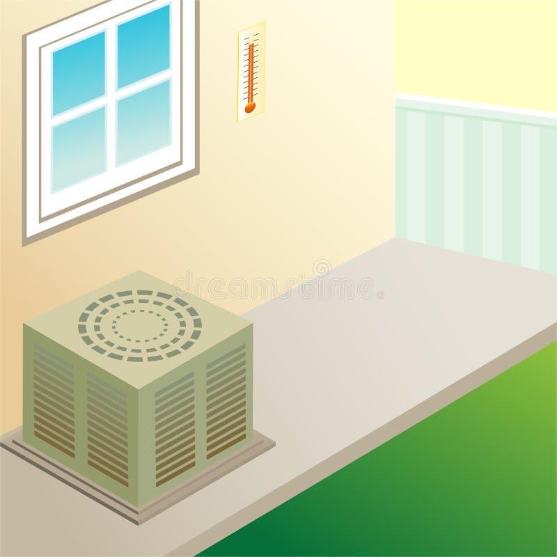 mieszkaniowy lotniczy conditioner royalty ilustracja