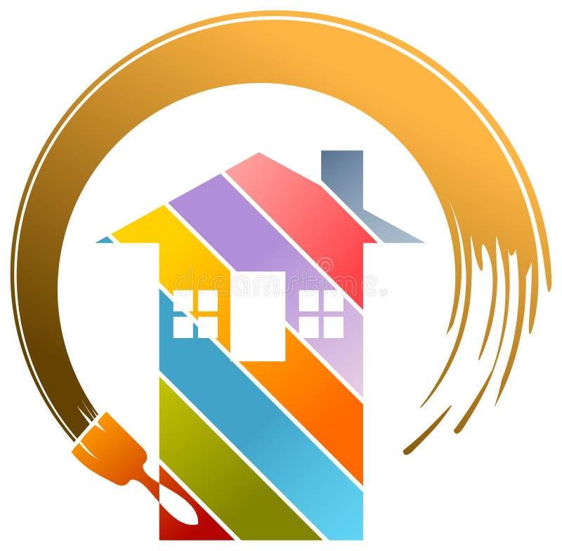 Mieszkaniowy obrazu logo royalty ilustracja