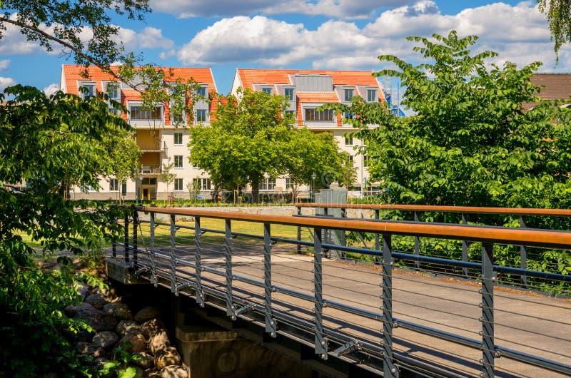 Mieszkaniowy okręg. Norrkoping, Szwecja obraz stock