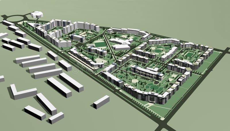 mieszkaniowy terenu projekt ilustracji