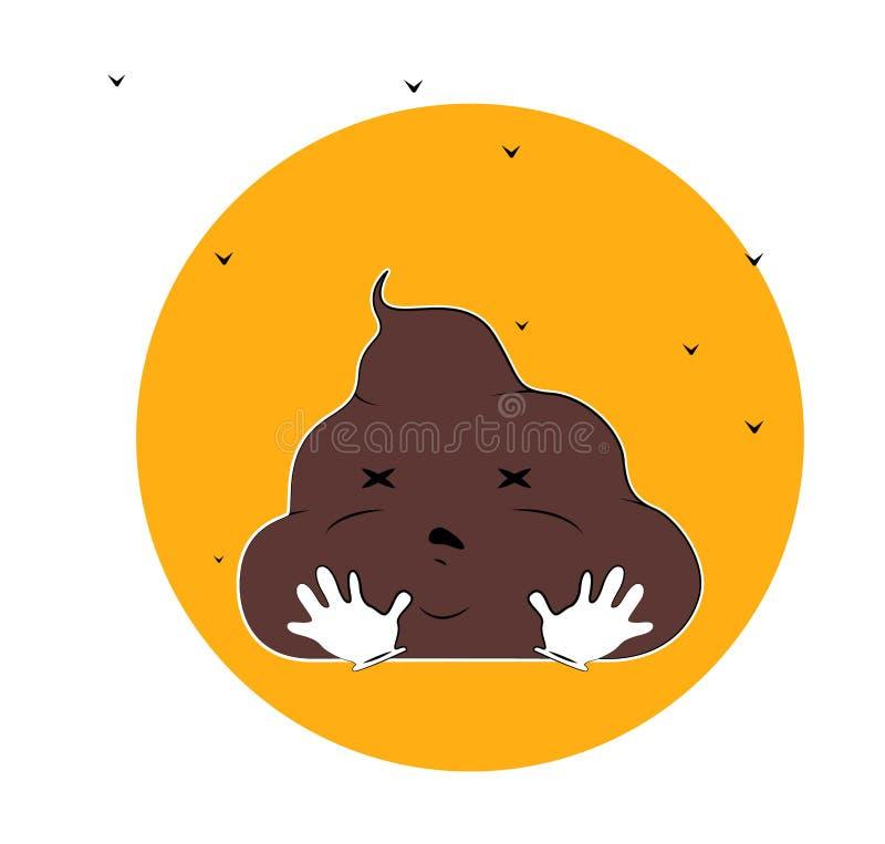 ?mieszna kaku postaci z kresk?wki ilustracja z komarnicami royalty ilustracja