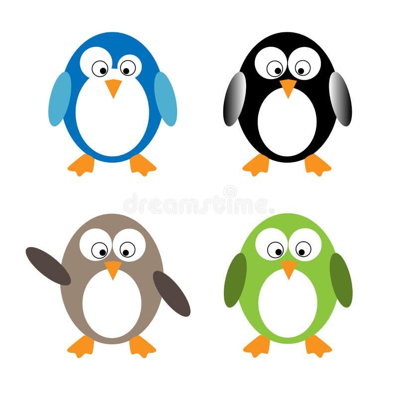 Download śmieszni pingwiny ilustracja wektor. Obraz złożonej z odosobniony - 13653587