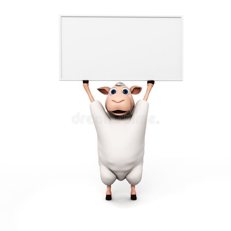 Download Śmieszny barani charakter ilustracji. Ilustracja złożonej z znak - 28962734