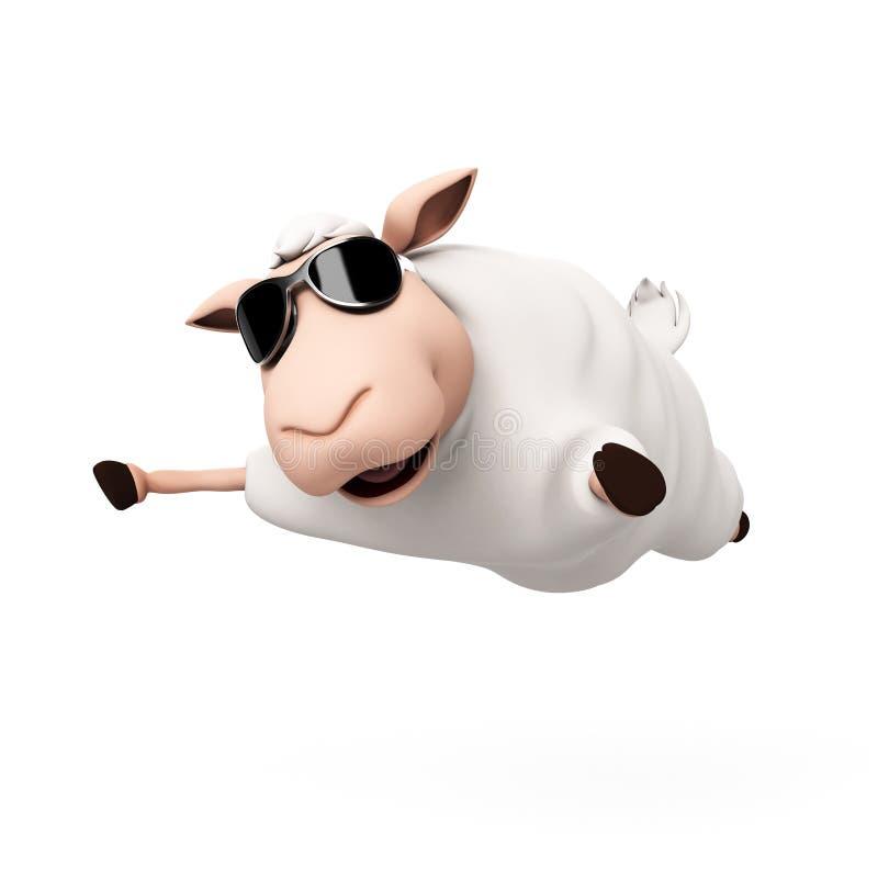 Download Śmieszny barani charakter ilustracji. Ilustracja złożonej z sheepfold - 28962756
