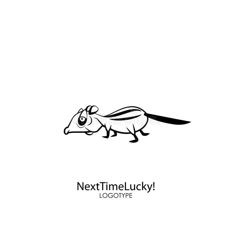 ?mieszny dziki chipmunk royalty ilustracja