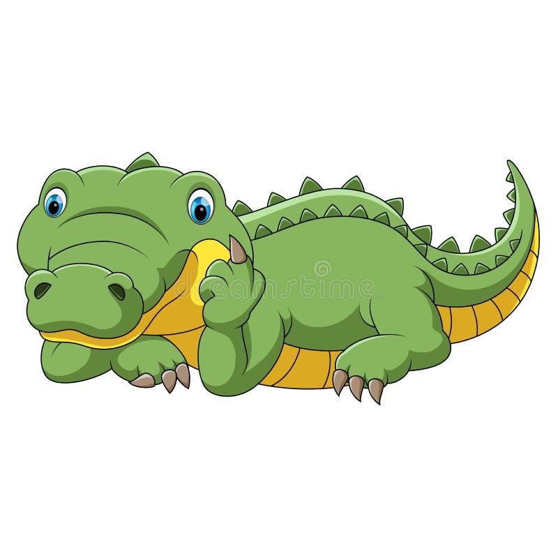 ?mieszny kresk?wka krokodyl ilustracji
