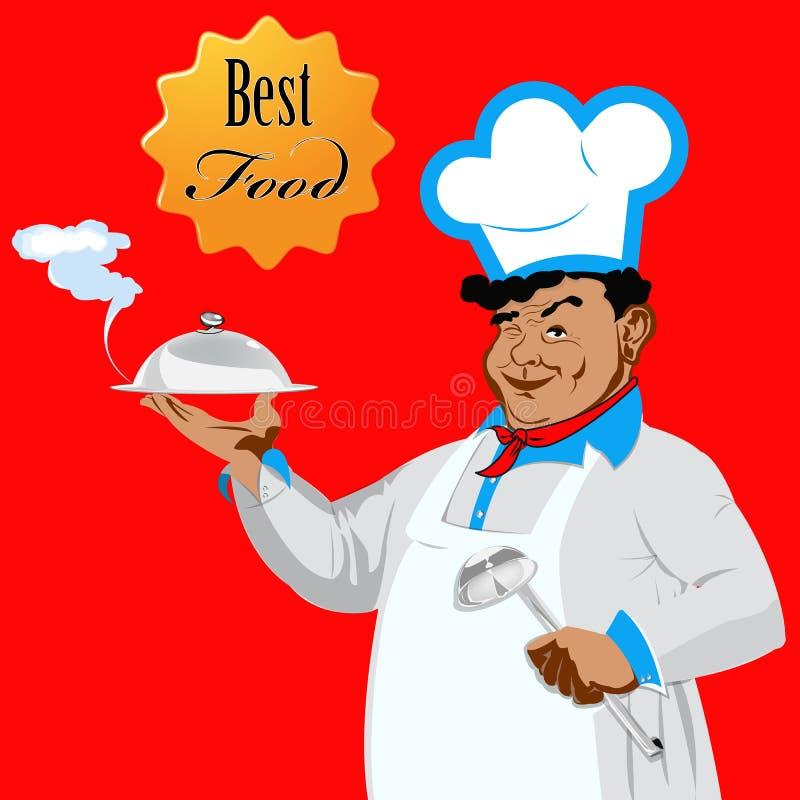Download Śmieszny szef kuchni ilustracja wektor. Ilustracja złożonej z nikt - 28964909