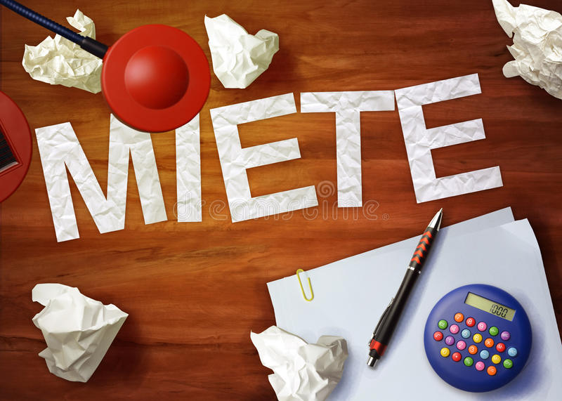 Miete桌面备忘录计算器办公室认为组织 图库摄影