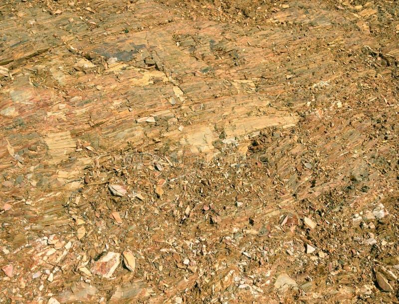 Miette en pierre, formation de roche comme fond, pierres lumineuses image stock