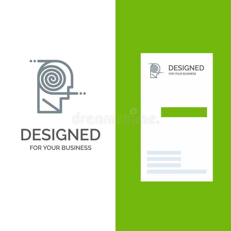 Mieux, compréhension, définition, étude, étude Grey Logo Design et calibre de carte de visite professionnelle de visite illustration stock