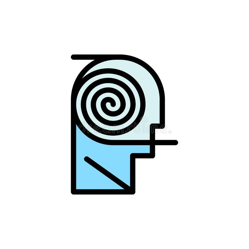 Mieux, compréhension, définition, apprenant, icône plate de couleur d'étude Calibre de bannière d'icône de vecteur illustration libre de droits
