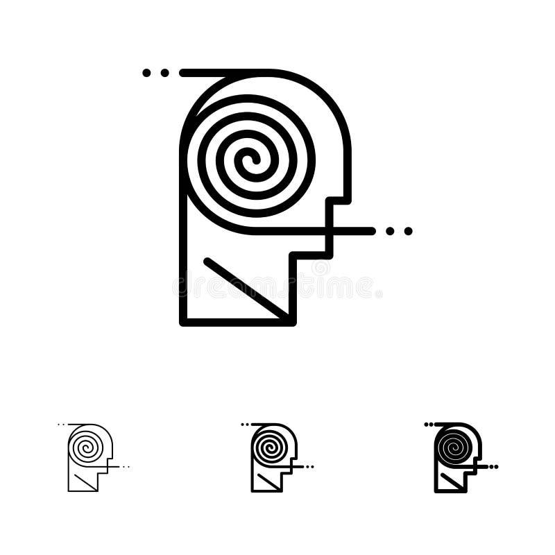Mieux, ligne noire audacieuse et mince ensemble de compréhension, de définition, d'étude, d'étude d'icône illustration de vecteur