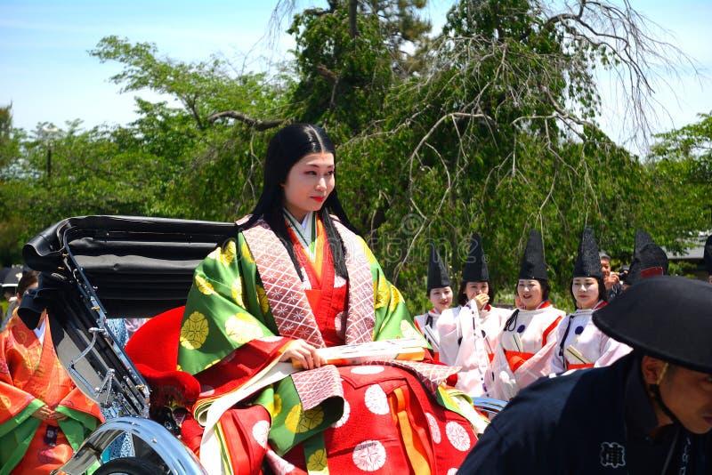 Mifune festival, Kyoto, Japan royaltyfri bild