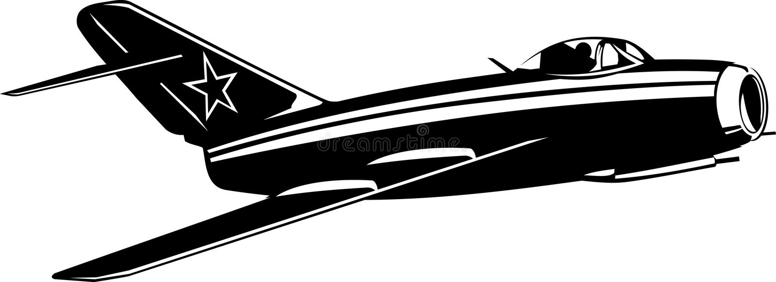Download MiG-15 stock vector. Image of airplane, cockpit, force - 9406667