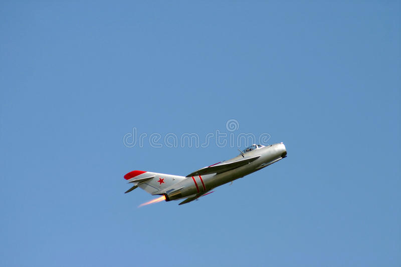 Download Mig 17 Afterburner stock image. Image of union, enemy - 15963805