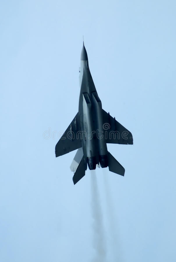 MIG-29 Fulcrum. In assault royalty free stock photos