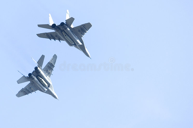 MIG 29 Jet Fighters stock photos