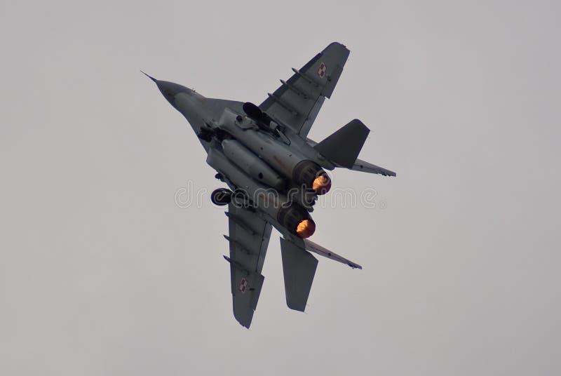 MiG-29 polacco fotografia stock libera da diritti