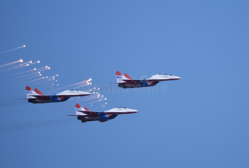 Download MIG-29 The Strizhi editorial stock image. Image of pursuit - 26444149