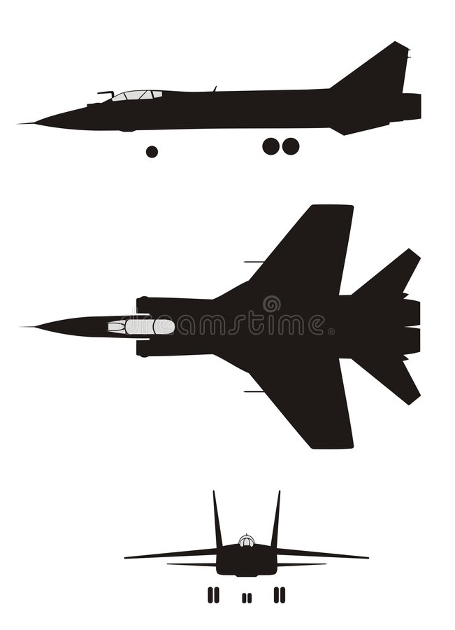 Mig-31 stock illustratie