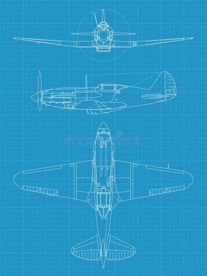 MiG 3 Aiplane stock de ilustración