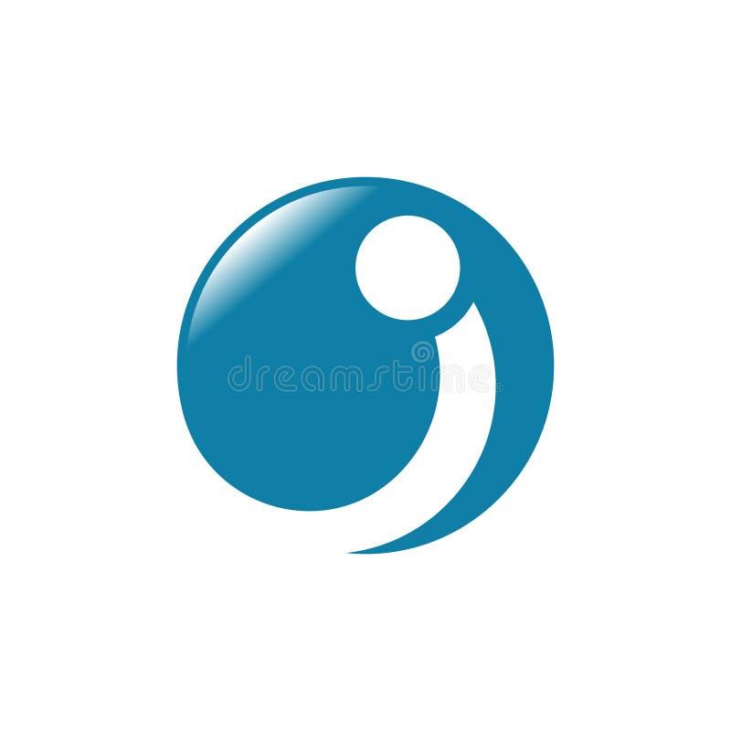 Mig blå cirkelvektorillustration arkivfoton