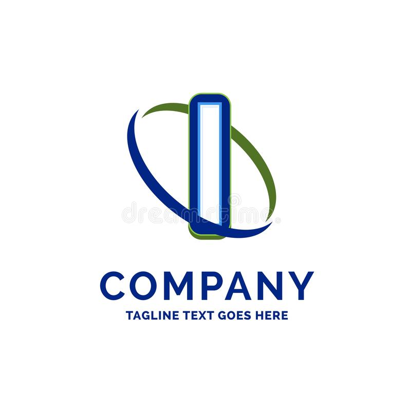 Mig design för företagsnamn Logomall Märkesnamnmallställe vektor illustrationer
