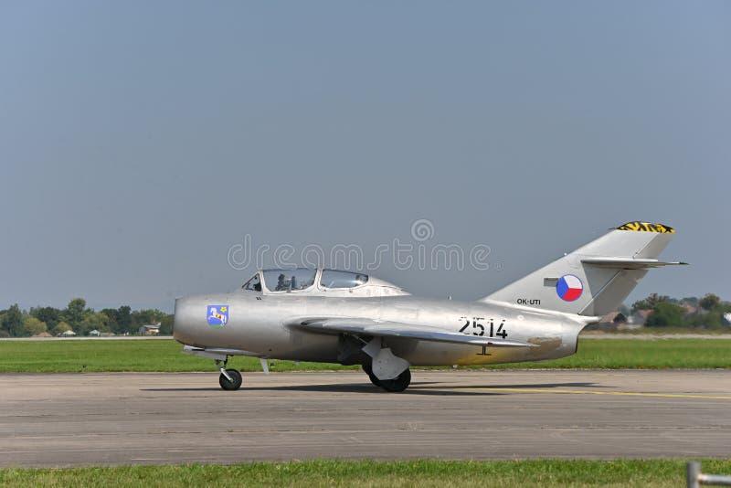 MiG-15,FAGOT,Микоян и Гуревич МиГ-15 免版税库存照片