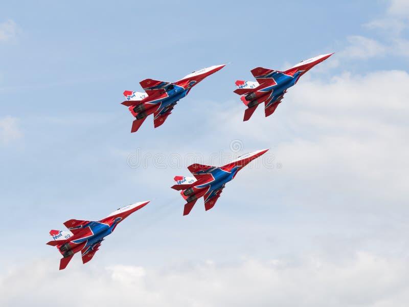 MiG-29 jerzyków aerobatic drużyna obrazy royalty free