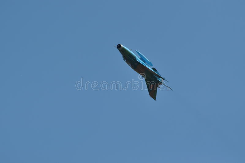Download MIG 21 LANCER Fighter Plane Performs A Demonstration Flight On The Romanian Air Fest Editorial Image - Image: 32142260