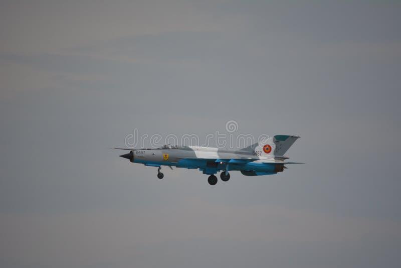 MIG-21 lansjer zdjęcia stock