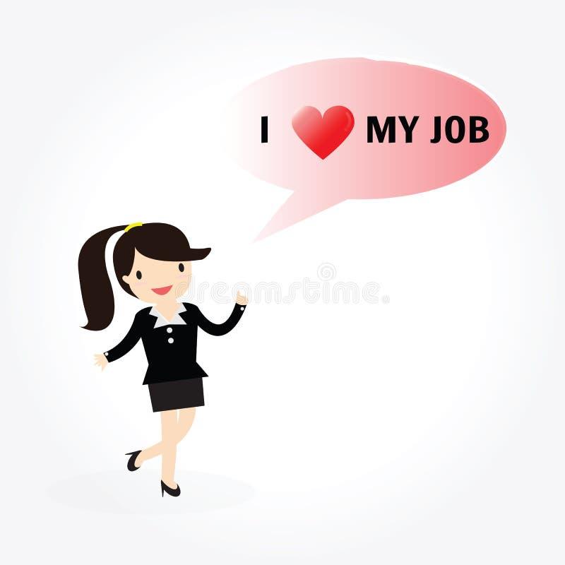mig min jobbförälskelse vektor illustrationer