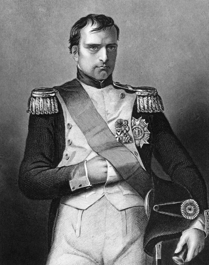 mig napoleon royaltyfria bilder